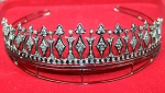Queen Crown 12.40 Ct Certified Diamond Sterling Silver Victorian Reproduction